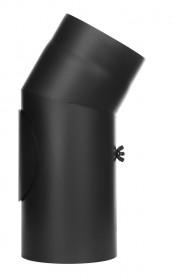 Ofenrohr - Winkel 30° mit Tür schwarz - Tecnovis TEC-Stahl