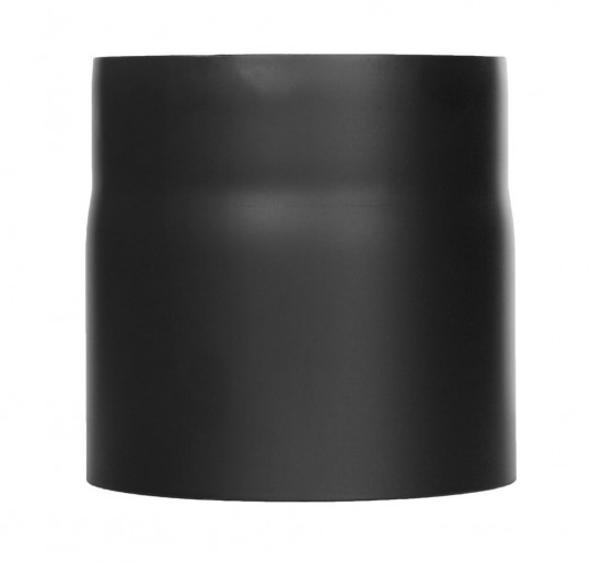 Ofenrohr - Längenelement 150 mm schwarz - Tecnovis TEC-Stahl