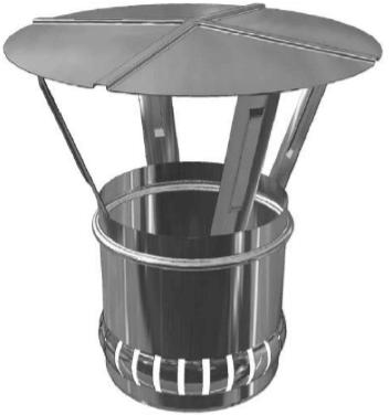 /Ø 230 mm Schiedel Prima Plus//ICS Regenhaube