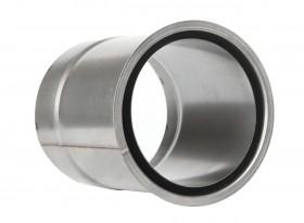 Ofenrohr - Wandfutter doppelt 200 mm unlackiert - Tecnovis TEC-Stahl