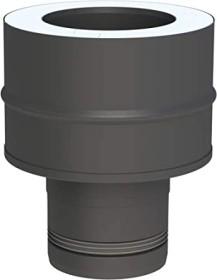 Pelletofenrohr - Längenelement 1000 mm - schwarz lackiert - Tecnovis TEC-PELLET