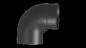 Ofenrohr - Vollformbogen 90° mit Tür - Durchmesser: 150 mm schwarz - Tecnovis TEC-Stahl