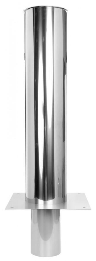 Kaminerhöhung einwandig 2500 mm mit rundem Einschub
