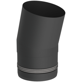 Pelletofenrohr - Winkel 15° starr - schwarz lackiert - Tecnovis TEC-PELLET