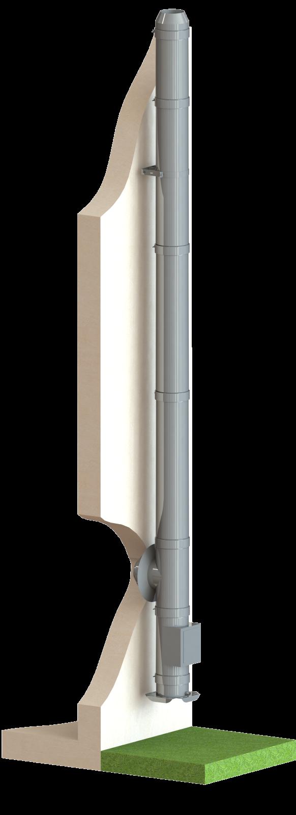 edelstahlschornstein bausatz 9 5m 150 mm dw5 rauchfang fachhandel. Black Bedroom Furniture Sets. Home Design Ideas