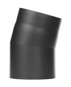Ofenrohr - Winkel 15° ohne Tür schwarz - Tecnovis TEC-Stahl