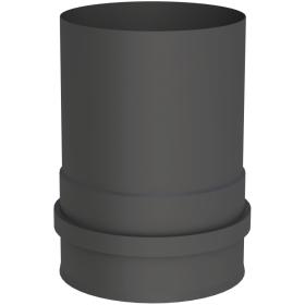 Pelletofenrohr - Kesselanschluss mit Doppelmuffe schwarz - Tecnovis TEC-PELLET