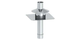 Kopfabdeckung inkl. Mündungsrohr aus Edelstahl und Wetterkragen für Tecnovis TEC-PPS und TEC-PP-FLEX