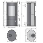 Kaminofen Justus Austin 5 - 5,4kW - Stahl Schwarz