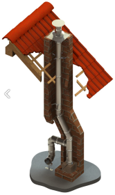 Kaminsanierung einwandig Ø 80 mm - Tecnovis TEC-EW-SILVER