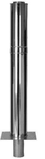 Kaminverlängerung - doppelwandig - 1000 mm wirksame Höhe