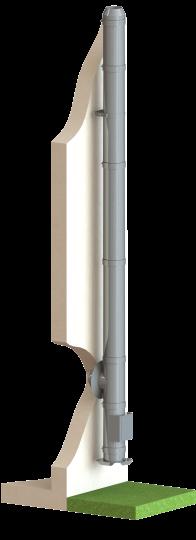 Edelstahlschornstein doppelwandig Ø 200 mm Bausatz - Dinak DW6