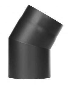Ofenrohr - Winkel 30° ohne Tür schwarz - Tecnovis TEC-Stahl