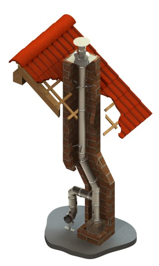 Edelstahlkamin Bausatz Ø 120 mm - einwandig - Tecnovis TEC-EW-Classic