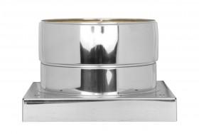 Grundplatte mit 1/2'' Außennippel, Kappe und Kondensatablauf unten - doppelwandig - TEC-DW-Standard