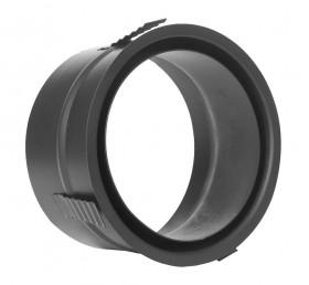 Ofenrohr - Wandfutter mit Zentrierfeder schwarz - Tecnovis TEC-Stahl