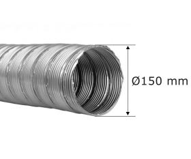 Flexrohr doppellagig Ø 150 mm, Edelstahl