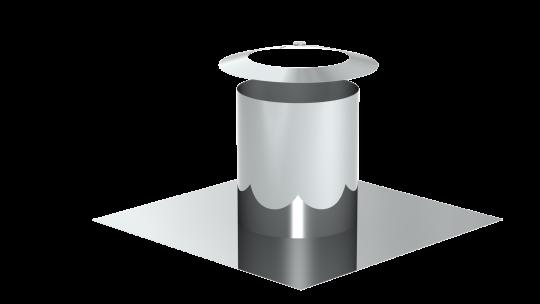 Flachdachdurchführung zylindrisch mit Wetterkragen - doppelwandig - Tecnovis TEC-DW-Standard