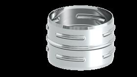 Ofenrohr - Steckverbinder - unlackiert - Tecnovis TEC-Stahl