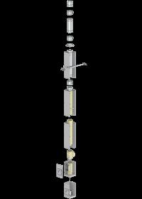 Leichtbaukamin Bausatz F90 mit Ø 150 mm Innenrohr