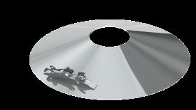 Wetterkragen mit Sicherungsseil passend für Mündungsset - für Tecnovis TEC-PPS und TEC-PP-FLEX