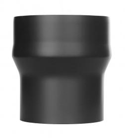 Ofenrohr - Erweiterung lackiert schwarz - Tecnovis TEC-Stahl