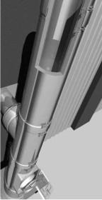 Edelstahlschornstein Bausatz Ø 200 mm - doppelwandig - Raab DW-FU
