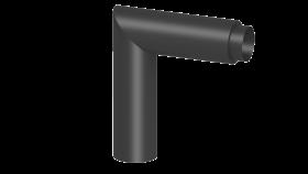 Ofenrohr - Knieelement 90° doppelwandig mit HT Isolierung - Tecnovis TEC-Stahl