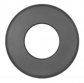 Ofenrohr - Wandrosette groß 85 mm schwarz - Tecnovis TEC-Stahl