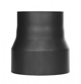 Ofenrohr - Reduzierung lackiert schwarz - Tecnovis TEC-Stahl