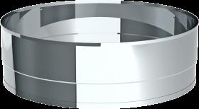 Auswurfrohr mit gebördeltem Abschluss Länge 95 mm - Tecnovis Wäscheabwurfschacht