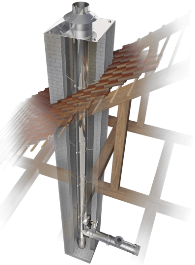 Schornsteinsanierung einwandig Ø 180 mm - Schräder Future EW