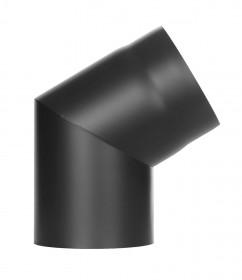 Ofenrohr - Winkel 60° ohne Tür schwarz - Tecnovis TEC-Stahl
