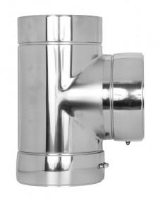 T-Anschluss 90° - doppelwandig - Tecnovis TEC-DW-Standard