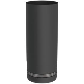 Pelletofenrohr - Längenelement 250 mm - schwarz lackiert - Tecnovis TEC-PELLET